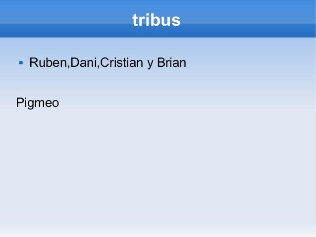 tribus   Ruben,Dani,Cristian y BrianPigmeo