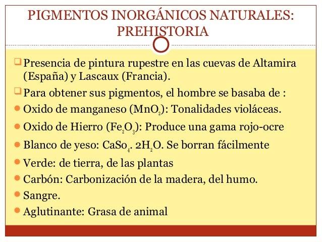 PIGMENTOS INORGÁNICOS MINERALES: