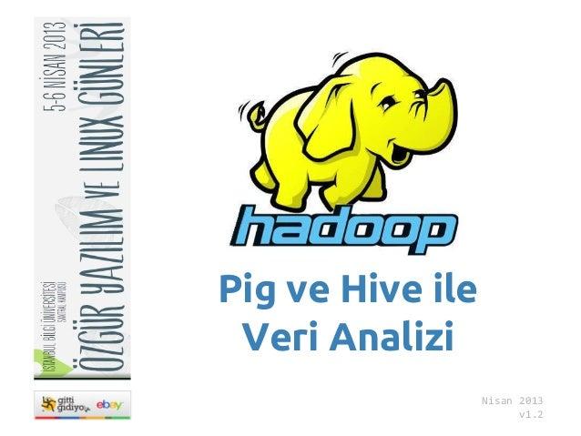 Pig ve Hive ile Veri Analizi                  Nisan 2013                        v1.2