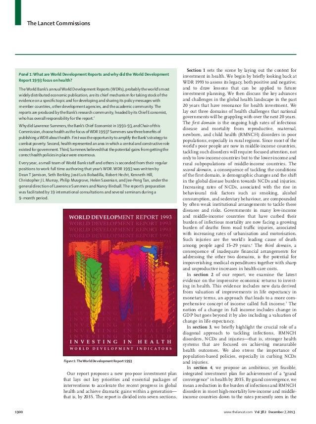 Global Health 2035 - The Lancet Commissions Slide 3