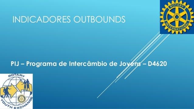 INDICADORES OUTBOUNDS  PIJ – Programa de Intercâmbio de Jovens – D4620