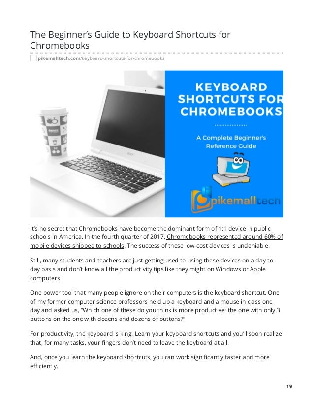 The Beginner's Guide to Keyboard Shortcuts for Chromebooks