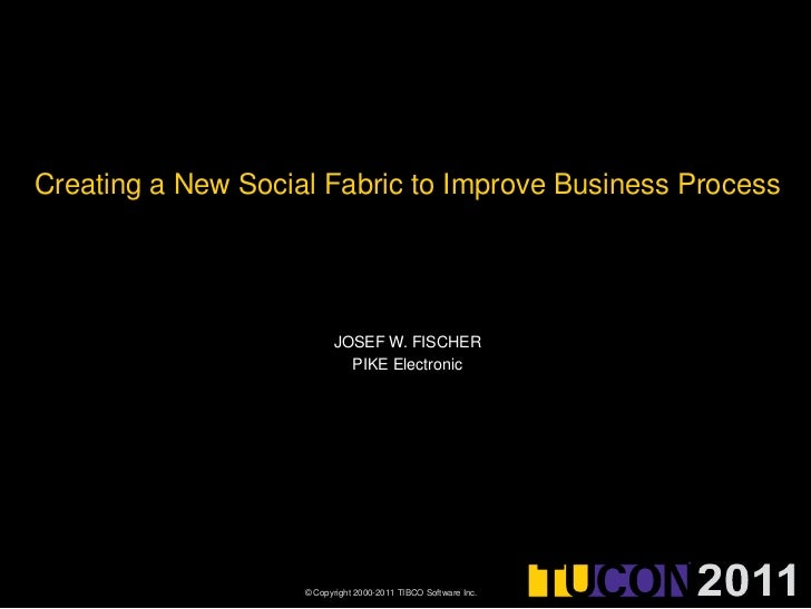 Creating a New Social Fabric to Improve Business Process<br />Josef w. fischer<br />PIKE Electronic<br />