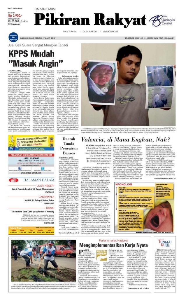 Pikiran Rakyat 27 Maret 2014