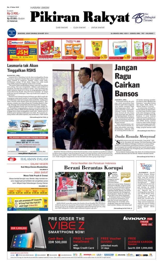 Pikiran Rakyat 28 Maret 2014