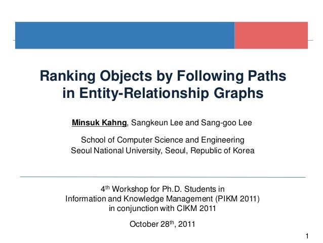 1Ranking Objects by Following Pathsin Entity-Relationship GraphsSeoul National University, Seoul, Republic of Korea4th Wor...