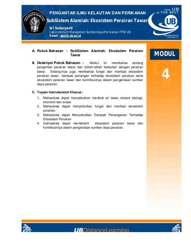 Pikp Modul04 Sub Sistem Perairan Tawar