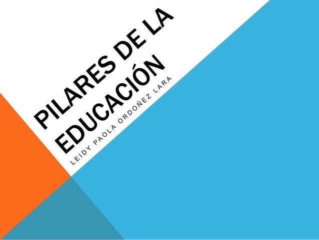 ¿QUÉ SON LOS PILARES DE LA EDUCACIÓN? Son aquellos que permiten potenciar el desarrollo integral de los niños y niñas, al ...