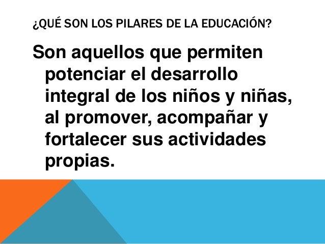 Pilares de la educación Slide 2