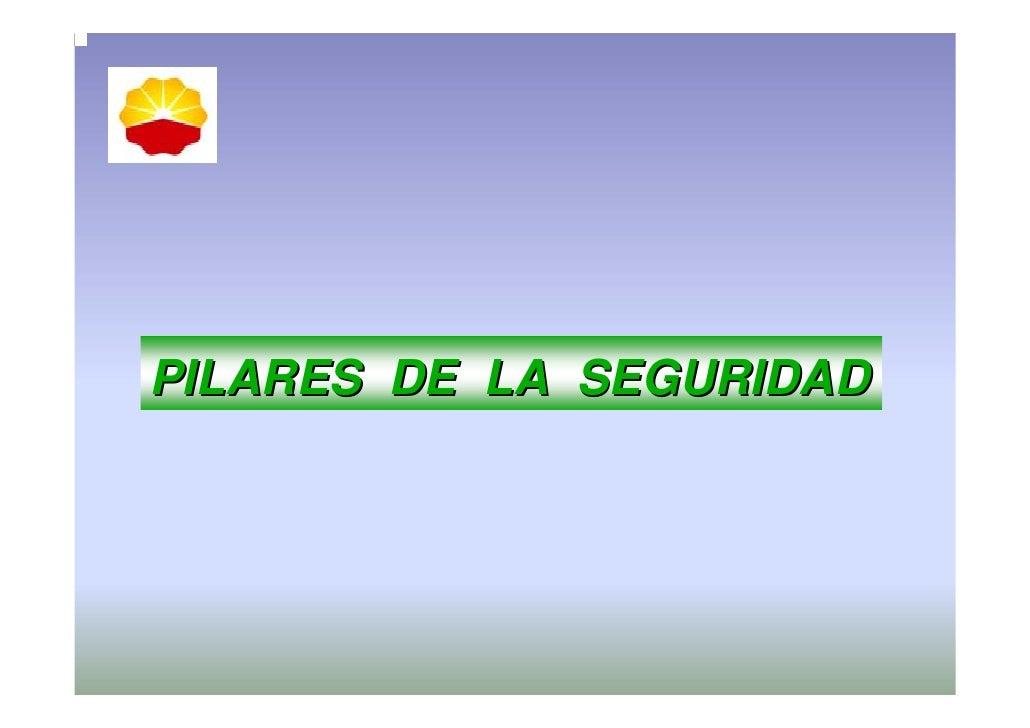 PILARES DE LA SEGURIDAD