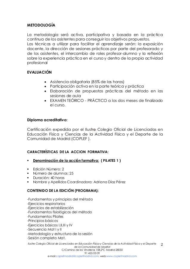 Curso de Pilates Nivel 1. Edición 2013