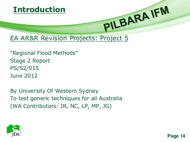 """Introduction                   Free Powerpoint TemplatesEA AR&R Revision Projects: Project 5""""Regional Flood Methods""""Stage ..."""