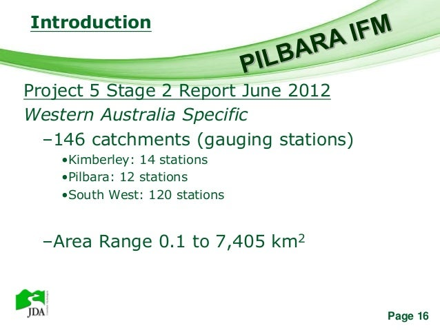 Introduction               Free Powerpoint TemplatesProject 5 Stage 2 Report June 2012Western Australia Specific  –146 cat...
