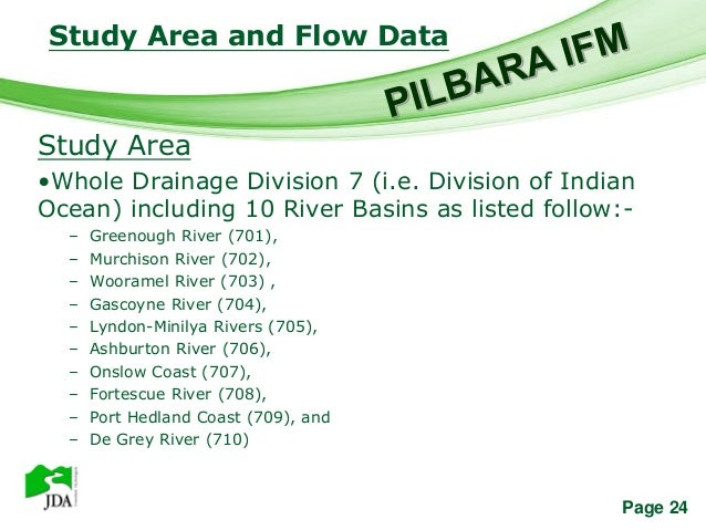 Study Area and Flow Data                     Free Powerpoint TemplatesStudy Area•Whole Drainage Division 7 (i.e. Division ...