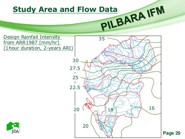 Study Area and Flow Data                      Free Powerpoint TemplatesDesign Rainfall Intensity                 35from AR...