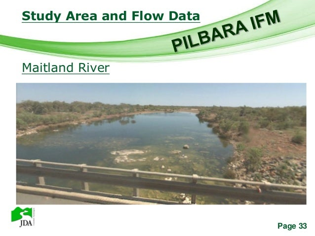 Study Area and Flow Data            Free Powerpoint TemplatesMaitland River                                        Page 33