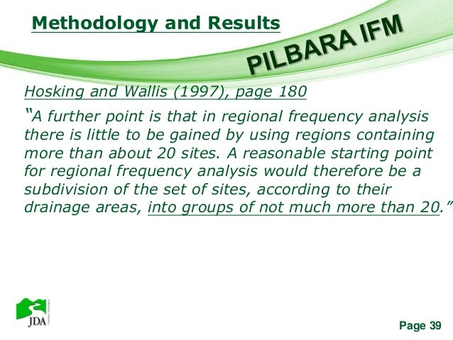 """Methodology and Results               Free Powerpoint TemplatesHosking and Wallis (1997), page 180""""A further point is that..."""