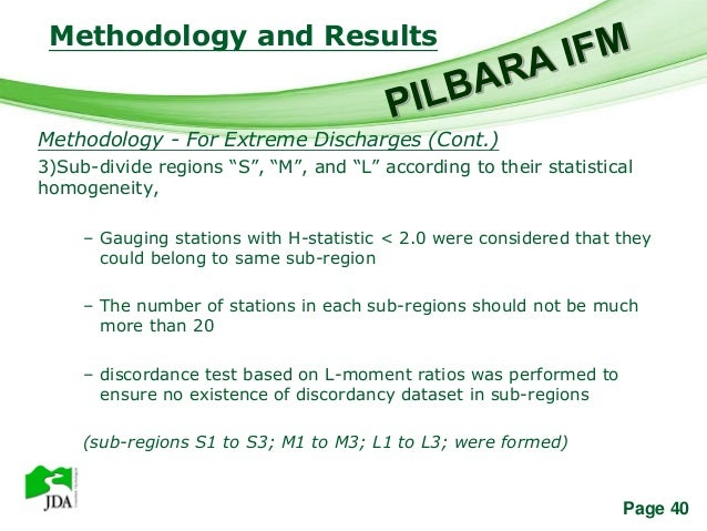 Methodology and Results                     Free Powerpoint TemplatesMethodology - For Extreme Discharges (Cont.)3)Sub-div...