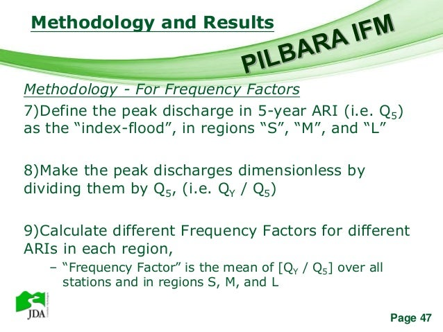 Methodology and Results                 Free Powerpoint TemplatesMethodology - For Frequency Factors7)Define the peak disc...