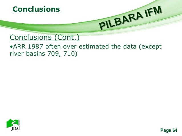 Conclusions              Free Powerpoint TemplatesConclusions (Cont.)•ARR 1987 often over estimated the data (exceptriver ...