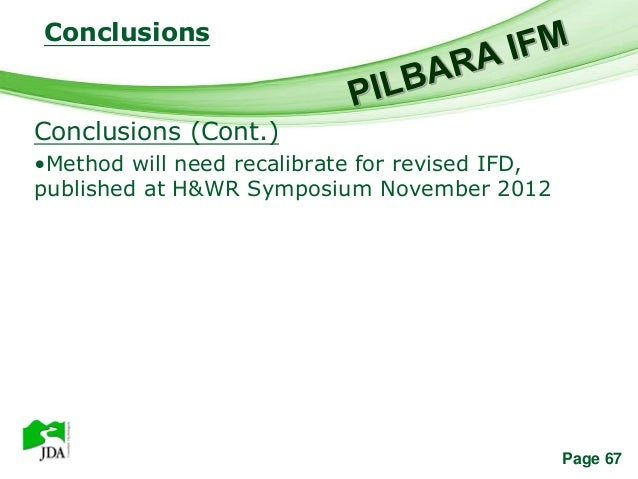 Conclusions              Free Powerpoint TemplatesConclusions (Cont.)•Method will need recalibrate for revised IFD,publish...
