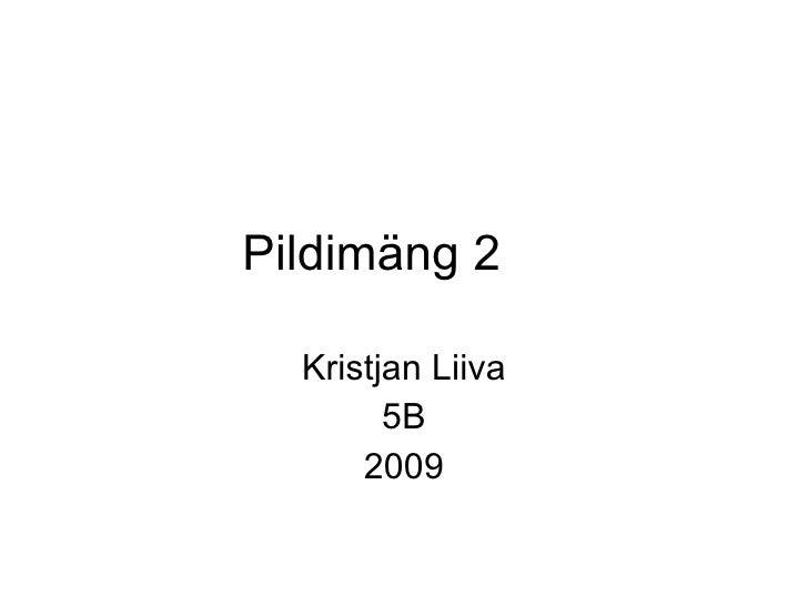 Pildimäng 2 Kristjan Liiva 5B 2009