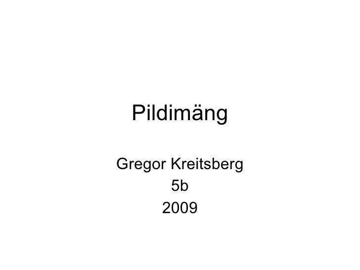 Pildimäng Gregor Kreitsberg 5b 2009
