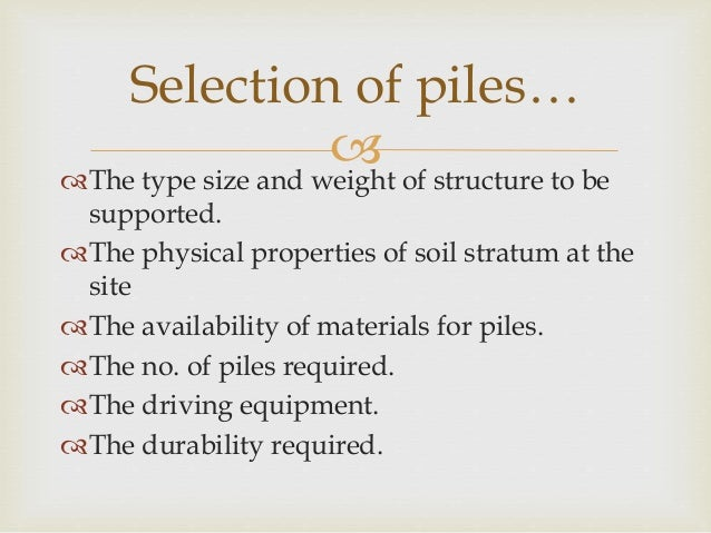 Pile and pile driving equipments