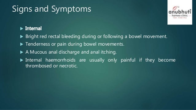 bleeding bowel movement Anal