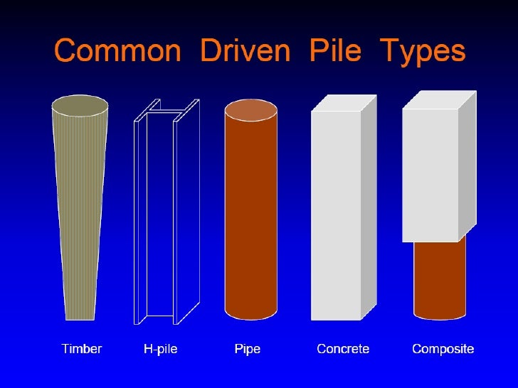 Piles Types Presentation