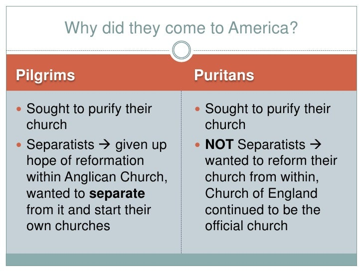 the difference between english puritans and the church of england The lutheran church one of the differences between protestants and catholics is puritans [puritan: roman catholic church during the reformation.