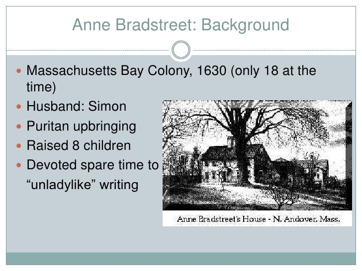 Compare And Contrast The Lives And Writing Of Anne Bradstreet And Phillis Wheatley