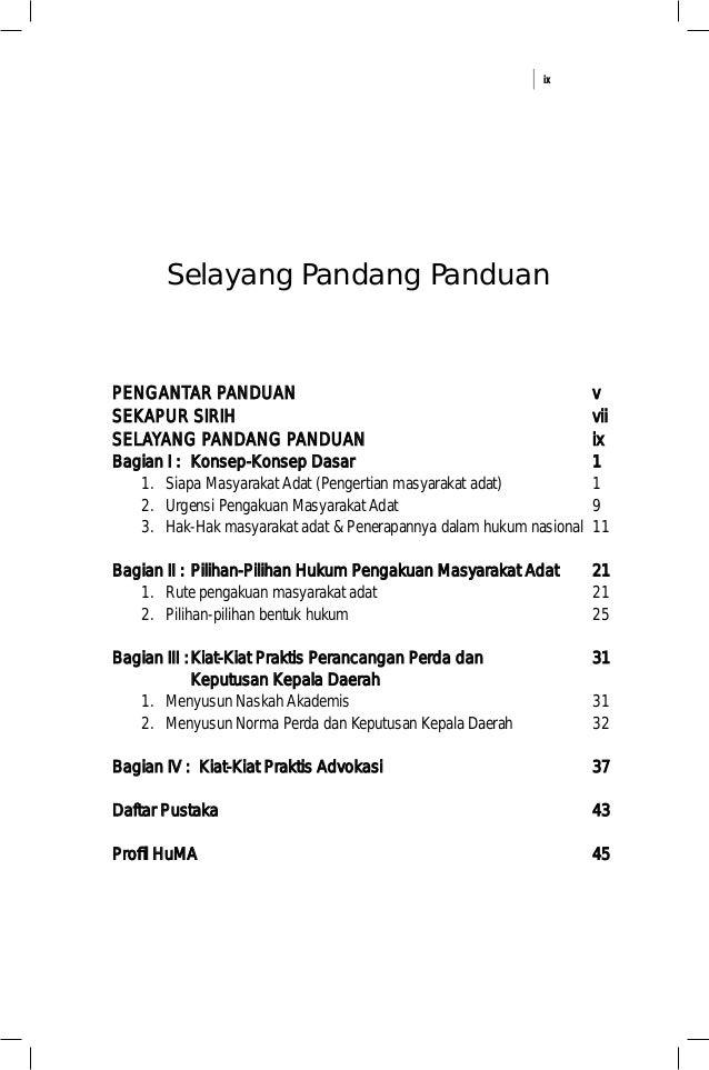 ix Selayang Pandang Panduan PENGANTAR PANDUANPENGANTAR PANDUAN SEKAPUR SIRIHSEKAPUR SIRIH SELAYANG PANDANG PANDUANSELAYANG...