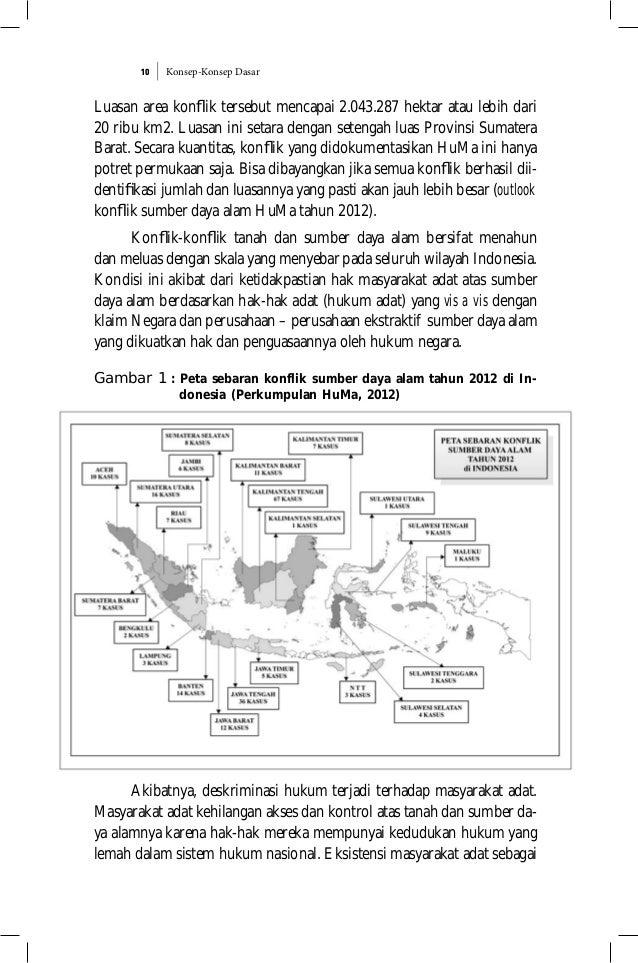 Konsep-Konsep Dasar10 Luasan area konflik tersebut mencapai 2.043.287 hektar atau lebih dari 20 ribu km2. Luasan ini setara...
