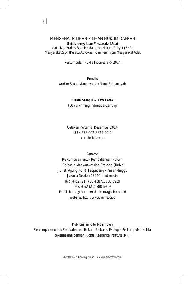 Mengenal Pilihan hukum daerah untuk pengakuan Masyarakat Adat Slide 3