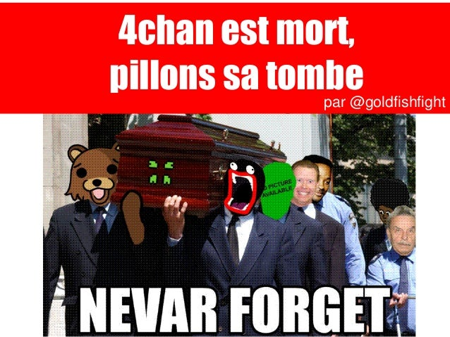 4chan est mort,pillons sa tombe              par @goldfishfight