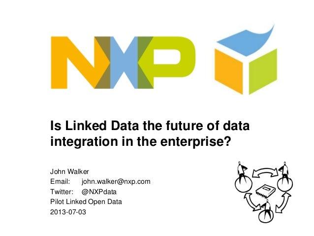 Is Linked Data the future of data integration in the enterprise? John Walker Email: john.walker@nxp.com Twitter: @NXPdata ...