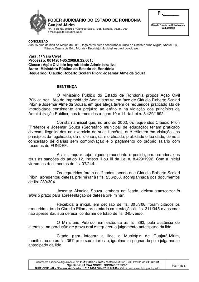 PODER JUDICIÁRIO DO ESTADO DE RONDÔNIA Guajará-Mirim Av. 15 de Novembro c / Campos Sales, 1981, Serraria, 76.850-000 e-mai...