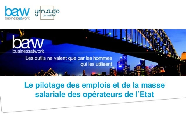 Le pilotage des emplois et de la masse salariale des opérateurs de l'Etat