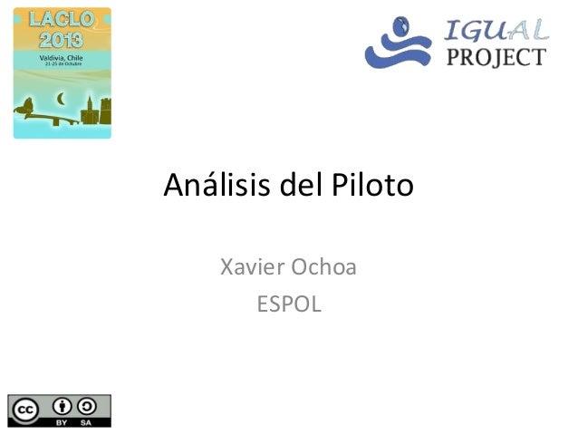 Análisis del Piloto Xavier Ochoa ESPOL