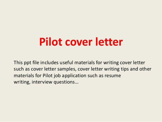 pilot resume cover letter template