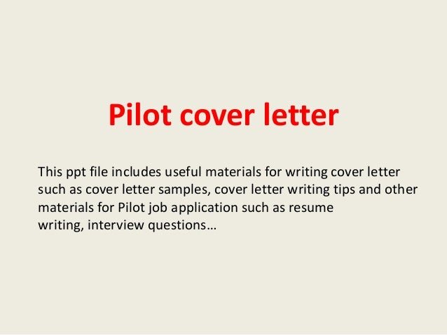 Pilot Cover Letter Example From Aviation HR Expert Angie Marshall Examples  Of A Cover Letter For