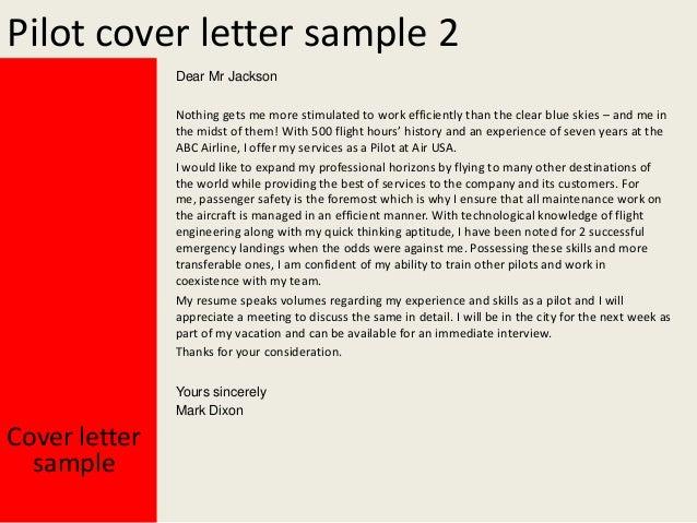 Charming Pilot Cover Letter ... On Pilot Cover Letter