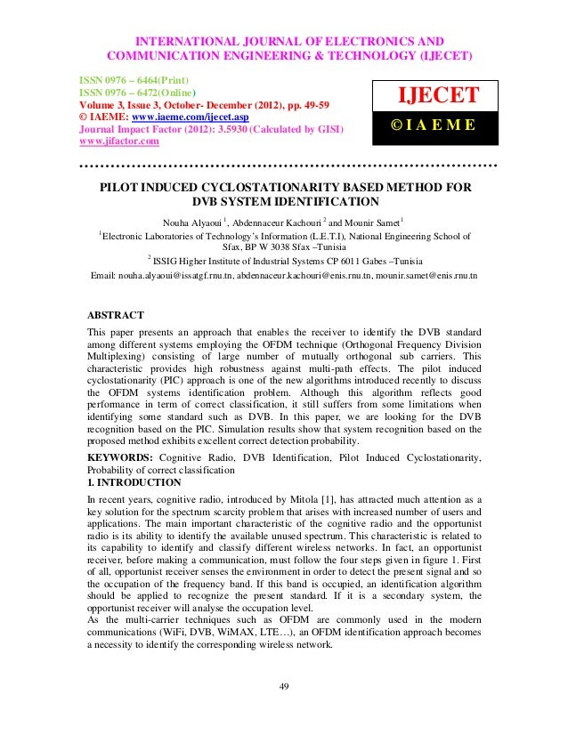 InternationalINTERNATIONAL JOURNAL OF ELECTRONICS AND               Journal of Electronics and Communication Engineering &...