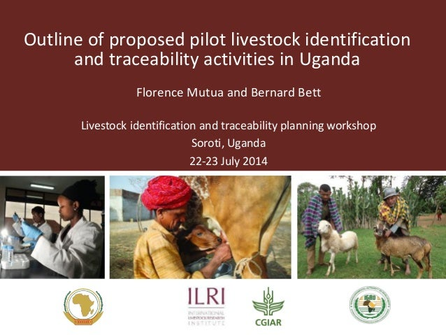 Outline of proposed pilot livestock identification  and traceability activities in Uganda  Florence Mutua and Bernard Bett...