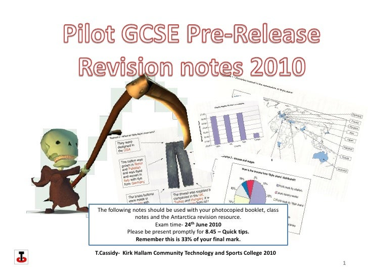 The following notes should be used with your photocopied booklet, class                notes and the Antarctica revision r...