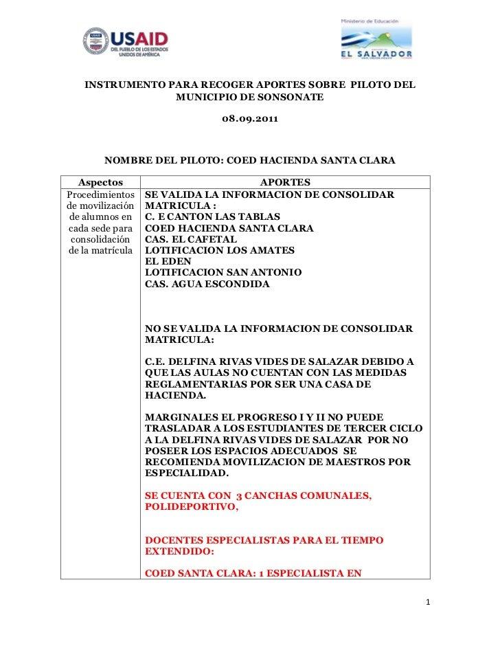 INSTRUMENTO PARA RECOGER APORTES SOBRE PILOTO DEL                MUNICIPIO DE SONSONATE                              08.09...