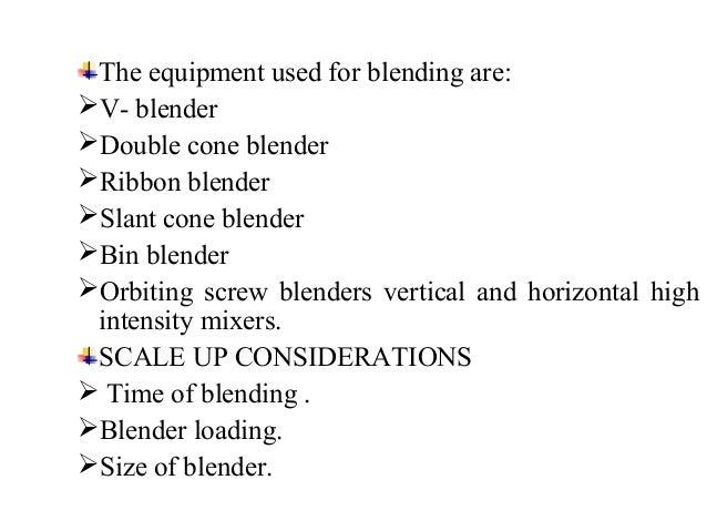 V – cone blender Double cone blender