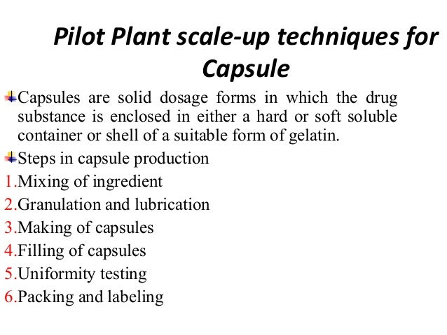 The manufacturing process for capsulated products  often same to that tablets.  Both tablets & capsules are produced from ...