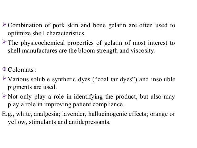 Opaquing agents :  Titanium dioxide may be included to render  the shell opaque.  Opaque capsules may be employed to pro...
